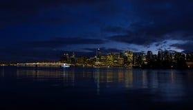 De Schemering van Vancouver Stock Afbeeldingen