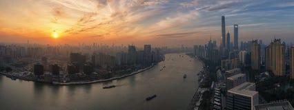 De schemerscène van Shanghai Stock Fotografie