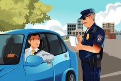 De schending van het verkeer royalty-vrije illustratie