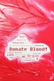 De schenking van het bloed Stock Foto's