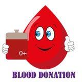 De schenking van het bloed vector illustratie