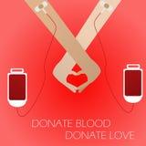 De schenking van het bloed Royalty-vrije Stock Afbeeldingen
