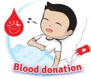 De schenking van het bloed Stock Foto