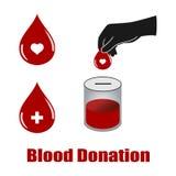 De schenkingsvectoren van het bloed Stock Fotografie