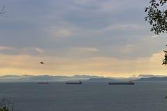 De schepen op inval Royalty-vrije Stock Afbeelding