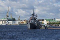 De schepen van de Baltische vloot van de Russische Marine Zelenodolsk stock afbeelding