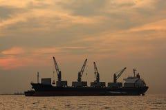 De schepen van de ladingscontainer, marien vervoer Royalty-vrije Stock Foto's