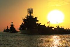 De schepen van de slag Stock Afbeelding