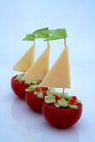 De schepen van de tomaat royalty-vrije stock foto's