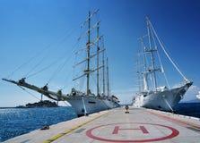De schepen van het zeil Royalty-vrije Stock Fotografie