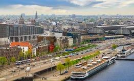 De schepen van de riviercruise in Amsterdam Royalty-vrije Stock Foto's