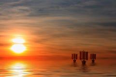 De Schepen van Viking Royalty-vrije Stock Afbeeldingen