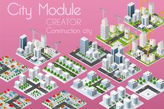 De schepper van de stadsmodule vector illustratie