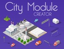 De schepper van de stadsmodule stock illustratie