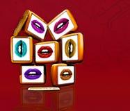 De schermen en de lippen van de computer Royalty-vrije Stock Foto's