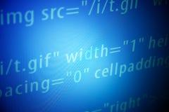 De schermen met de code van het programmaWeb/monitorachtergrond Royalty-vrije Stock Afbeeldingen