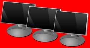 De schermen van de computer Royalty-vrije Stock Afbeeldingen