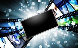 De schermen van de computer met beelden Royalty-vrije Stock Foto's