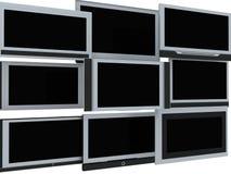 De schermen van TV Royalty-vrije Stock Afbeeldingen