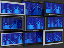 De schermen van TV Stock Foto's