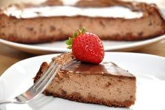 De Scherpe Cake van de chocolade Royalty-vrije Stock Foto's