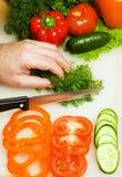 De scherpe groenten van de mens Stock Foto