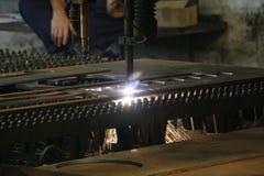 De scherpe machine van de laser Royalty-vrije Stock Afbeelding