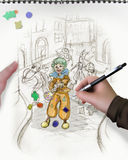 De schets van Carnaval vector illustratie