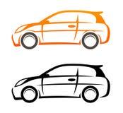 De schets van de auto. Vector pictogram Stock Afbeelding