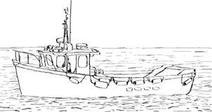 De Schets van de boot Stock Afbeeldingen