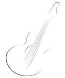 De schets van de gitaar Stock Afbeeldingen