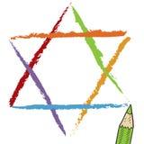 De schets van de jodenster stock illustratie