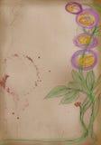 De schets van de kunstenaar: hand tekening van bloemen royalty-vrije illustratie