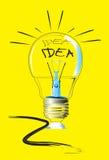 De schets van de lampkunst Royalty-vrije Stock Foto