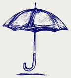De schets van de paraplu stock illustratie