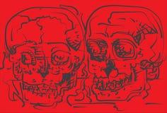 De schets van de schedel Royalty-vrije Stock Foto's