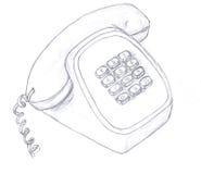 De schets van de telefoon Stock Fotografie