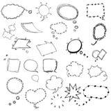 De schets van de toespraakbel van vrije hand die vectorillustratie trekken royalty-vrije stock foto