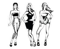 De schets van een de zomer vrouwelijke manier Royalty-vrije Stock Afbeelding
