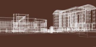 De schets van gebouwen voor zaken Stock Afbeelding