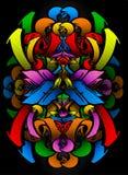 De schets van Graffitti in citrusvruchtenkleuren Royalty-vrije Stock Afbeelding