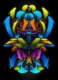 De schets van Graffitti in vibrantskleuren Stock Foto's
