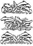De schets van Graffitti in zwart-wit Royalty-vrije Stock Fotografie