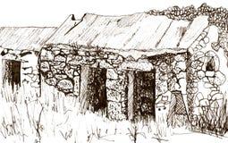 De schets van het bijgebouw Royalty-vrije Stock Afbeeldingen