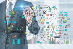 De schets van het het businessplan van de mensentekening vector illustratie