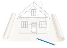 De schets van het huis Stock Foto
