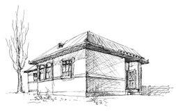De schets van het huis vector illustratie