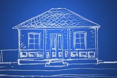 De schets van het huis Stock Afbeeldingen