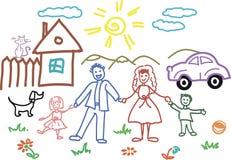 De schets van het kind binnen   vector illustratie