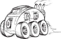 De Schets van het pantserwagenvoertuig Stock Foto